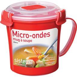 Mug à soupe micro-ondes à clips 656 ml