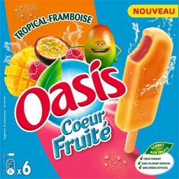 Fruité Oasis Bâtonnets sorbets Cœur  tropical framboise