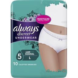 Discreet - normal - taille l - culottes pour fuites ...