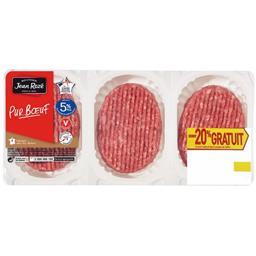 Jean Rozé Steaks hachés 5% MG pur bœuf la barquette de 6 - 600 g