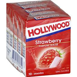 Hollywood Chewing-gum parfum fraise sans sucres