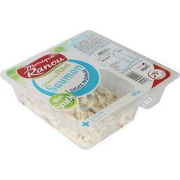 Salade de pâtes saumon sauce fromage Mon Snack
