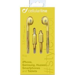 Kit audio stereo capsule jaune