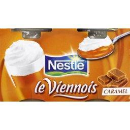 Le Viennois - Dessert lacté au caramel,NESTLE,les 4 pots de 100g