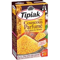 Tipiak Graine couscous parfumé aux épices du Monde