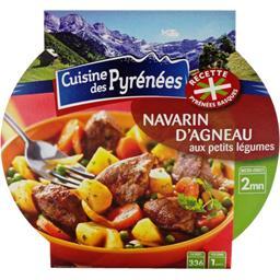 Cuisine des Pyrénées navarin d'agneau et petits légumes 300g