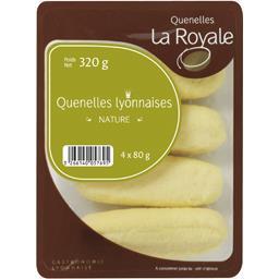 La Royale Quenelles à la lyonnaise nature les 4 quenelles de 80 g