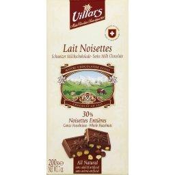 Chocolat lait noisettes, 30% noisettes entières