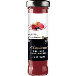 L'Exceptionnel coulis de fruits rouges 75% de fruit,CHABRIOR,le flacon de 165 g