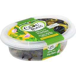 Croc' frais Olives dénoyautées aux herbes, doux