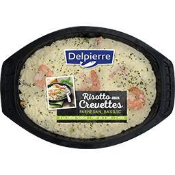 Risotto aux crevettes parmesan basilic