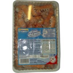 Odyssée Queues de langoustines crues avec carapace la boite de 180 pièces - 500 g
