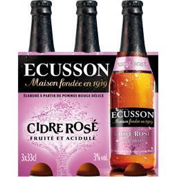 Cidre rosé fruité et acidulé