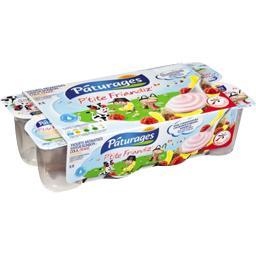 Yaourts P'tite Friandiz' saveur bonbon cola, fraise, banane