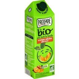 Nectar BIO, orange, pêche, abricot