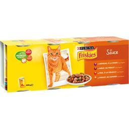Assortiment de bouchées en sauce pour chats