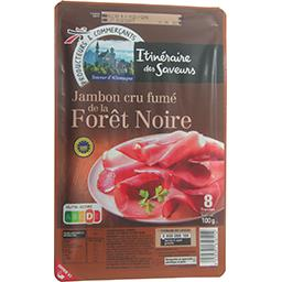 Jambon cru fumé de la Forêt Noire,ITINERAIRE DES SAVEURS,la barquette de 8 tranches - 100g