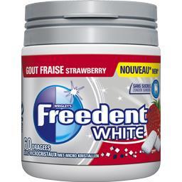 White - Chewing-gum goût fraise sans sucres
