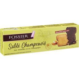 Fossier Sablé Champenois amandes/Champagne chocolat noir la boite de 9 - 130 g