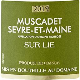Muscadet Sèvre et Maine sur Lie Domaine Poilane vin ...