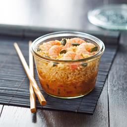 Régal du Chef - Crevette sauce piquante & son riz