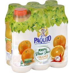 Jus d'orange sans pulpe 100% pur jus
