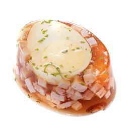 Aspic œuf jambon cube