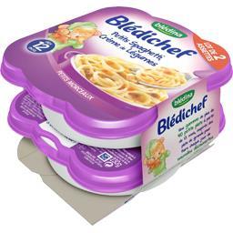 Blédichef - Petits spaghetti crème de légumes, dès 1...