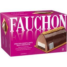 Bûche Création scintillante deux chocolats