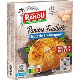 Paniers feuilletés noix de Saint-Jacques