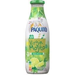 Mojito sans alcool, citron vert menthe, la bouteille de 1 l,PAQUITO,la bouteille de 1 l