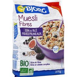 Muesli fibres son de blé figues pruneaux BIO