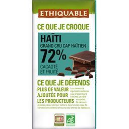 Chocolat noir Haïti 72% BIO