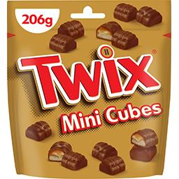 Mini Cubes biscuit nappé caramel enrobé chocolat au ...