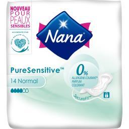 Nana Serviette hygiénique Pure Sensitive normal