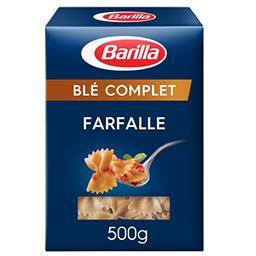 Farfalle, pâtes alimentaires de semoule complète de blé dur