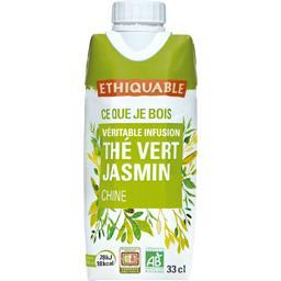 Ethiquable Véritable infusion thé vert jasmin Chine BIO la brique de 33 cl