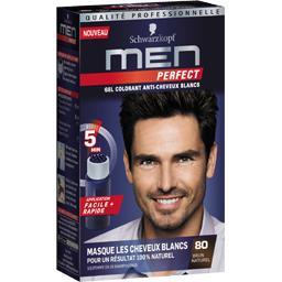 Men Perfect - Gel colorant anti-cheveux blancs 80 brun naturel