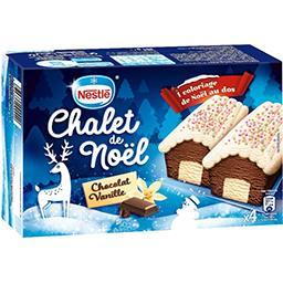 Bûchettes chalet de Noël chocolat vanille