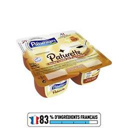 Paturette - Crème dessert saveur vanille sur lit au ...