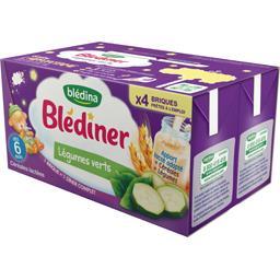 Blédîner - Céréales lactées aux légumes, légumes ver...