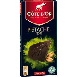 Chocolat noir pistache
