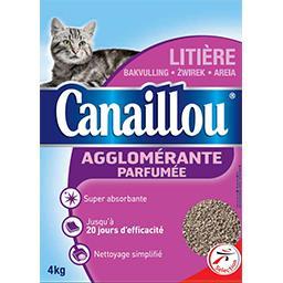 Litière pour chat agglomérante parfumée