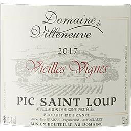 Languedoc-Pic Saint Loup Vieilles Vignes vin Rouge Domaine De Villeneuve vin Rouge 2017