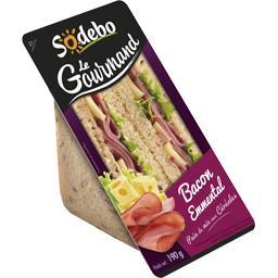 Le Gourmand - Sandwich bacon emmental céréales