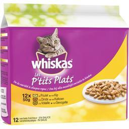 Les P'tits Plats - Aliment pour chat poulet/dinde/vo...