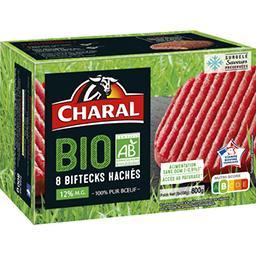 Biftecks hachés BIO 100% pur bœuf 15% MG