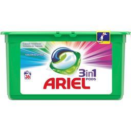 Ariel Couleur & style - 3en1 - lessive en capsules - 36 la...