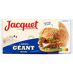 Jacquet Pain Burger géant nature