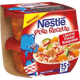 P'tite Recette - Légumes poulet Basquaise, 15+ mois